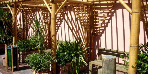 decoracao jardim bambu:Decoração com Bambu