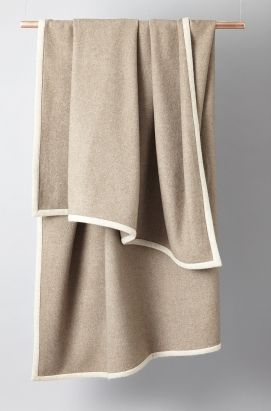 Arte cashmere throw in Taupe with Beige edge. £995