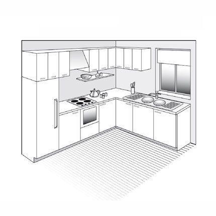 Plan De Cuisine En L Ouverte Sur Le Sejour En 2020 Plan Cuisine Decoration Interieure Cuisine Relooking Cuisine