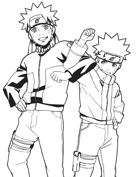 naruto minor and adult naruto coloring pages pinterest naruto