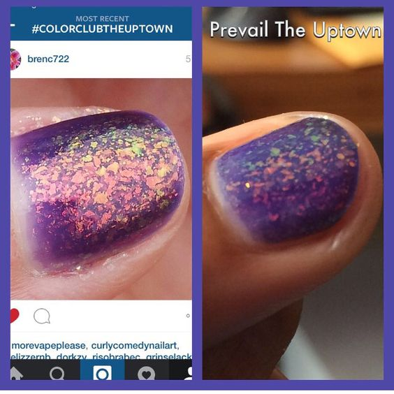 Color Club The Uptown original formula vs Prevail The Uptown