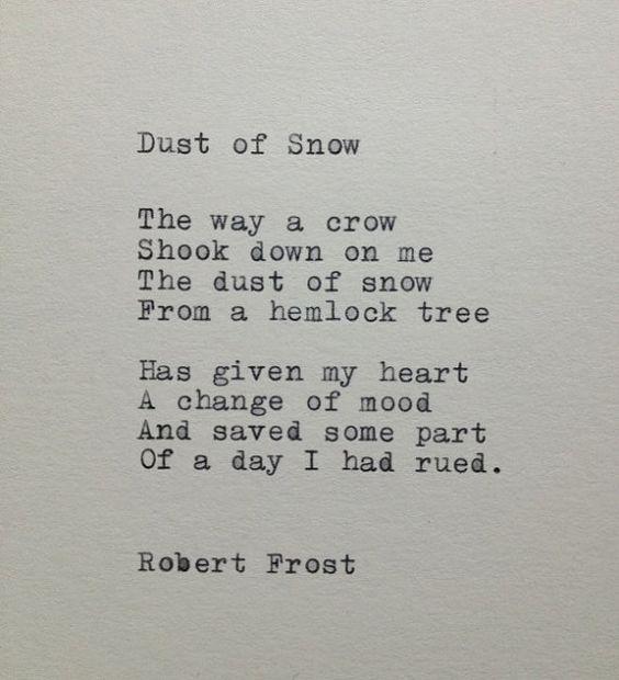 Robert Frost-Schnee-Gedicht auf Schreibmaschine von WhiteCellarDoor