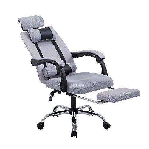 Towero Office Chair Reclining Net Cloth Boss Staff Pulley Lift