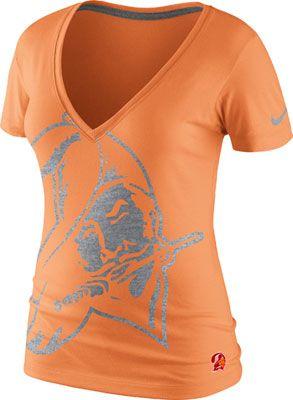 Tampa Bay Buccaneers Women's Orange Nike Retro Tri-Blend V-Neck T-Shirt