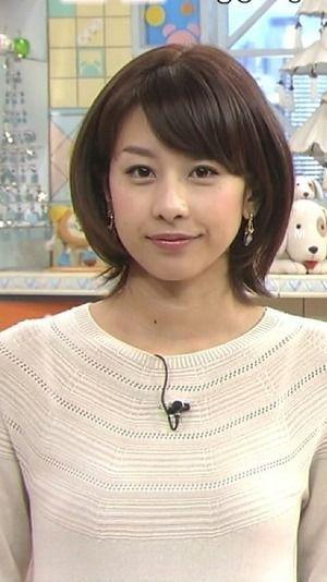 ショートボブの加藤綾子
