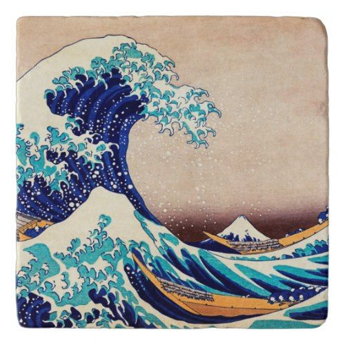 Great Wave Off Kanagawa Japanese Vintage Fine Art Trivet Zazzle Com Japanese Woodblock Printing Wave Art Japan Art