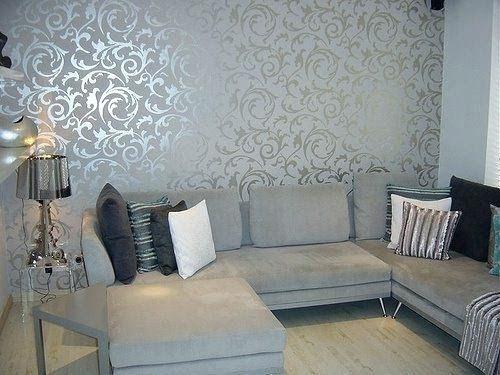 Modern Living Room Wallpaper Ideas Vastavgroup Co Living Room Wallpaper Wallpap In 2020 Grey Wallpaper Living Room Silver Wallpaper Living Room Wallpaper Living Room
