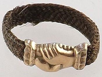 Georgian 18ct Gold Mourning Hair Friendship Ring