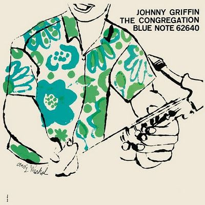 "Johnny Griffin ""The Congregation,"" on Blue Note #design & #illustration: Andy Warhol! #jazz #art #50s:"
