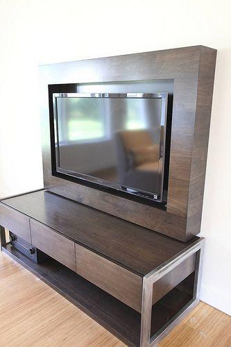 Modern TV cabinet   by Steve Kuhl..............Classy TV storage idea!