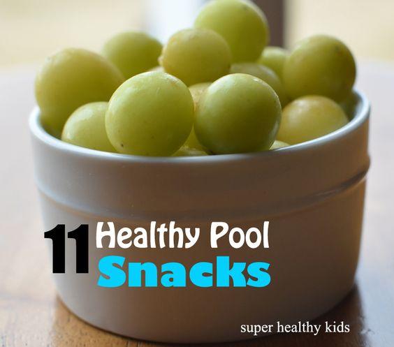 11 Healthy Pool Snacks for Super Healthy Kids #Healthy #Snacks