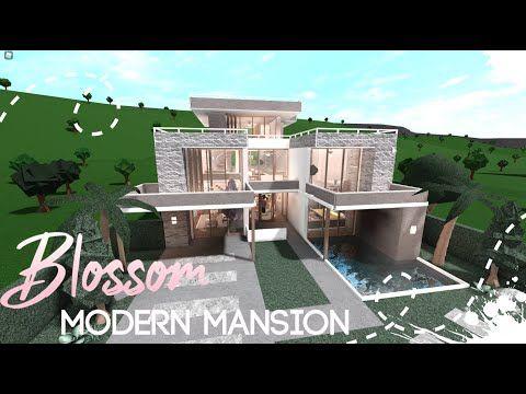 Bloxburg Blossom Modern Mansion House Build Youtube Mansions Modern Family House Modern Mansion