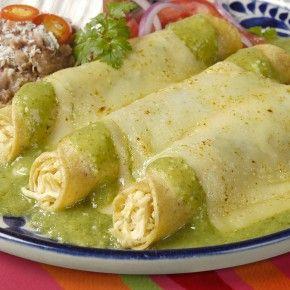 enchiladas with tomatillo sauce