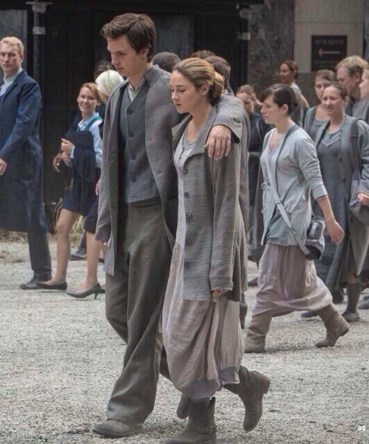 Divergent still - Tris and Caleb