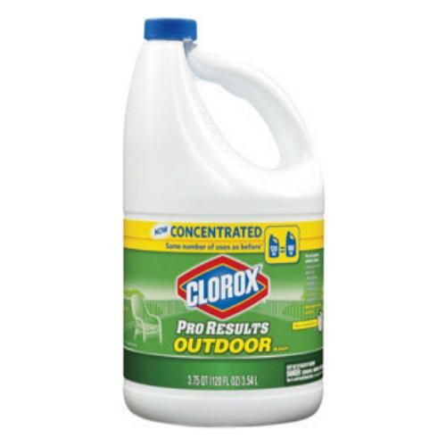 Clorox 30791 Concentrated Outdoor Liquid Bleach 120 Oz Mildew Stains Cleaning Bleach