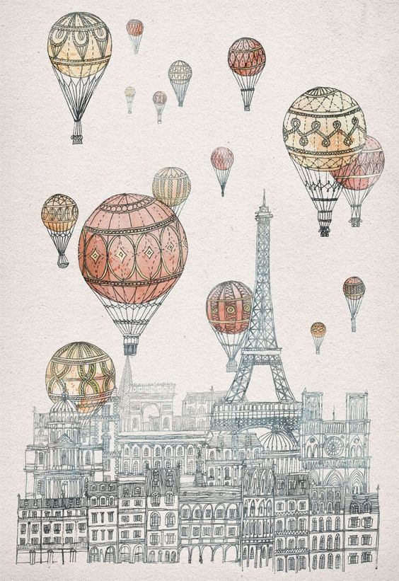 Voyages Over Paris| by Fleck p.s. See an exciting new kickstarter print collection by Fleck here