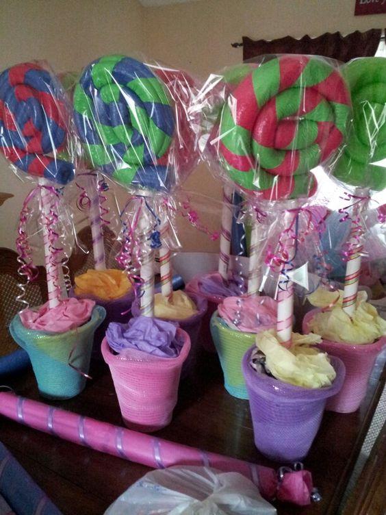 Pool Noodles Lollipops And Noodles On Pinterest