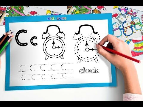 Learn Alphabet A To Z Coloring And Drawing Learn Colors For Kids Clock Learning Colors Learning The Alphabet Rhymes For Kids