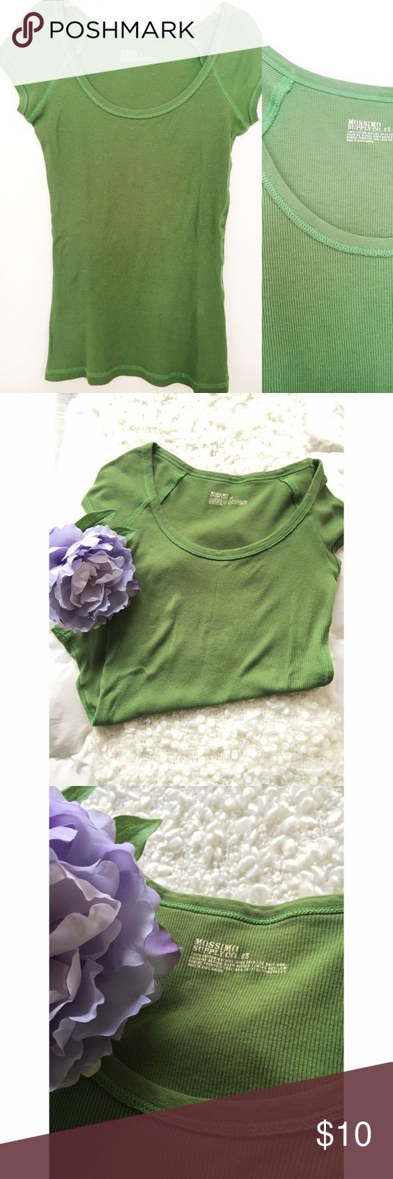 Mossimo Supply Co Green Fitted Shirt Mossimo Supply Co green Fitted Shirt. In great condition! Offers will be accepted via the offers option only. Mossimo Supply Co. Tops Tees - Short Sleeve