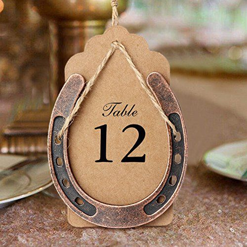 Aerwo 10pcs Horseshoe Wedding Favors Lucky Party Decorations With