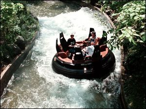 White Water Canyon - Kings Island, Ohio.