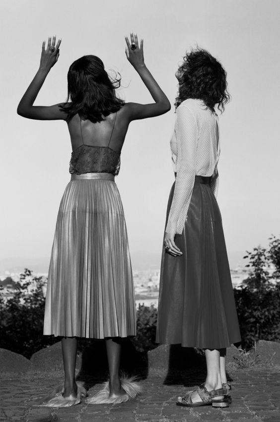 amy-ambrosio:  Tami Williams & Mica Argañaraz by Jamie Hawkesworth for Vogue US, July 2015.