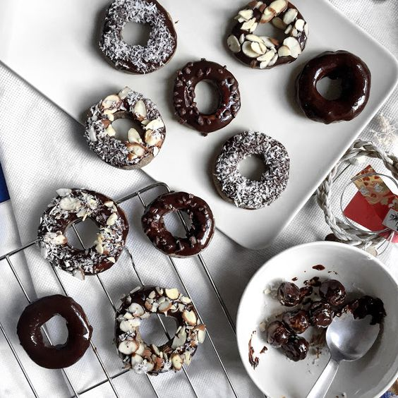 DONUTS WITH CHOCOLATE ALMOND COCONUT SPRINKLE