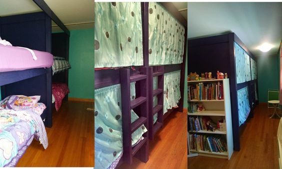 Bunk Beds for 4 to 6 | Do It Yourself Home Projects from Ana White