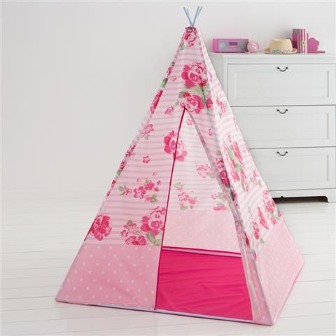 Tee pee play tent floral kmart baby styling for Fairy door kmart