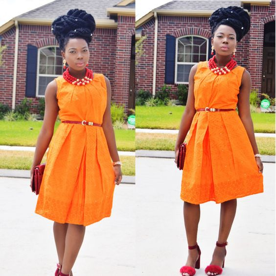 Hey, I found this really awesome Etsy listing at https://www.etsy.com/listing/242245218/african-clothing-african-lace-orange