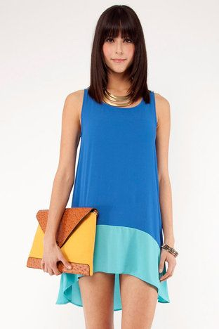 color block tank dress