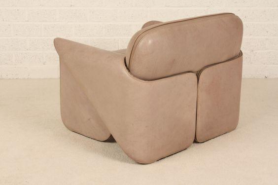 de sede ds 125 sofa and chair gerd lange 1970 39 s unique. Black Bedroom Furniture Sets. Home Design Ideas