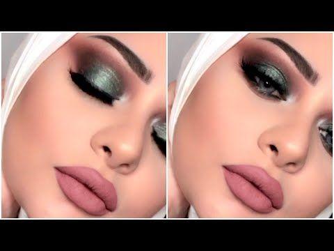 Olive Green Smokey Eyes Marwa Yehia مكياج سموكى اخضر زيتى مع مروة يحيي Youtube Middle Eastern Makeup Makeup Makeup Looks