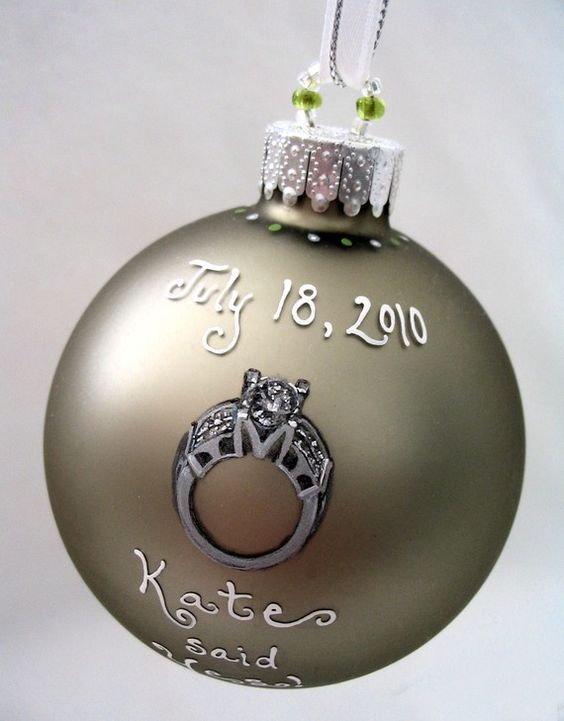 Custom engagement ornament with your ring a cool way to - Ornament tapete weiay ...