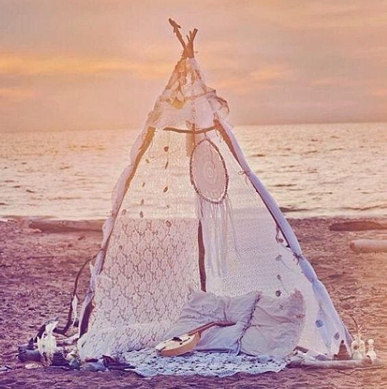 home teepee wedding
