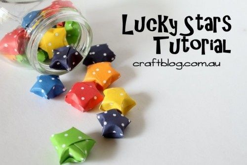 Lucky stars.  Great for baby shower.  Guests write wishes on them and place them in a jar for the nursery.