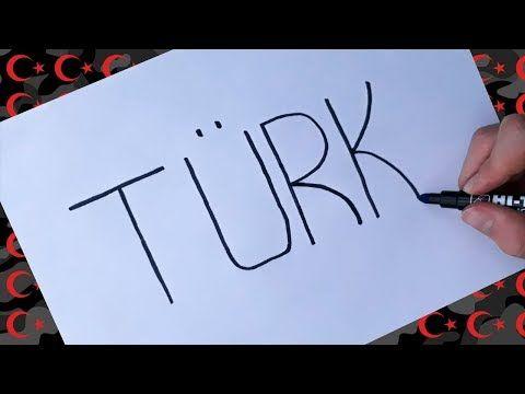 Türk Yazisini çizime çevirme Kelimeyi Resme çevirme çok