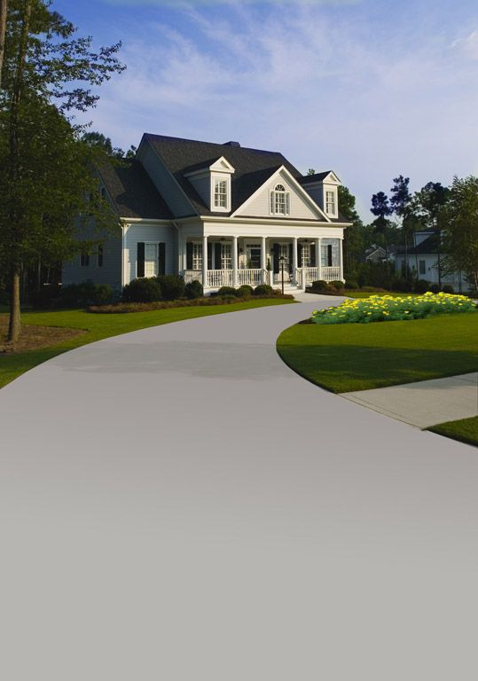 Turn your blacktop gray with new color grade driveway for Can i paint asphalt driveway