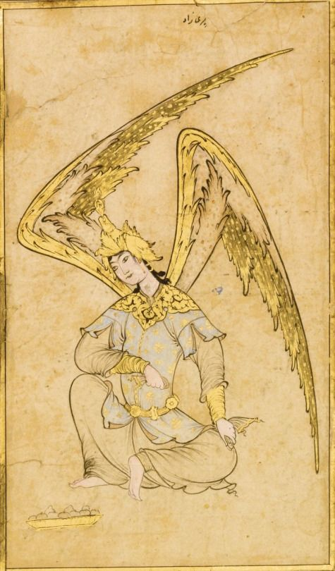 An Ottoman Drawing of a Peri, attributable to Veli Can, Turkey, 16th century: