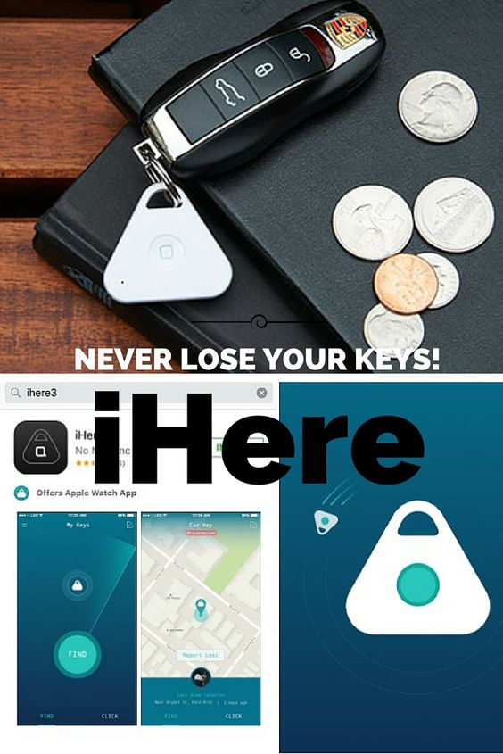 The iHere is small enough to fit in your pocket. It's triangular shape gives it a unique look, and it isn't too bulky on your key ring. Also, the app is very easy to use and understand. So, if you are someone who easily misplaces things, make sure to pick up an iHere! It's great for travel also!