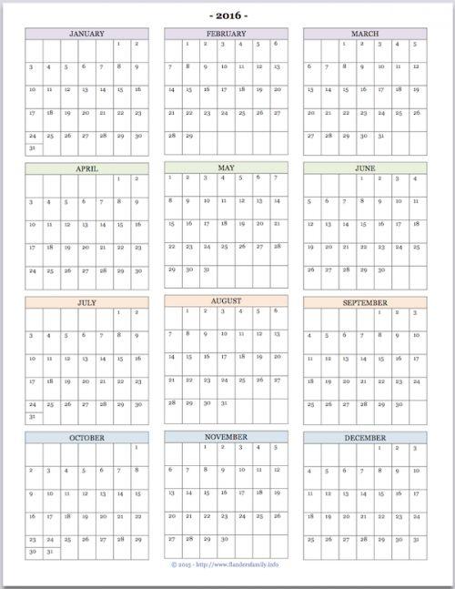 Free printable  - printable yearly calendar