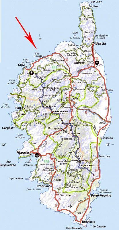 Carte Routiere Corse Du Sud : carte, routiere, corse, Épinglé, Voyage