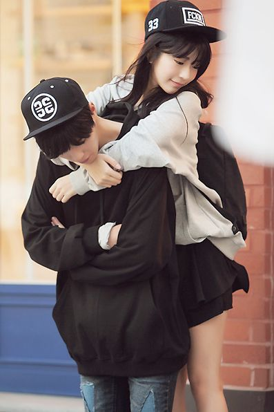 Cute couple in South Korea: