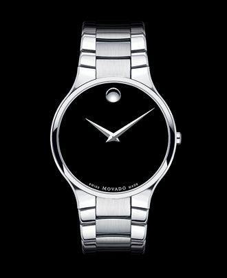 Movado men 39 s swiss serio stainless steel bracelet watch for Nice watch for boyfriend