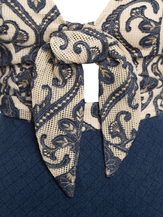 Macacao Jeans Matelasse - Iorane - Azul - Shop2gether