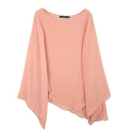 Chiffon blouses long sleeve shirts smock HY-132241970