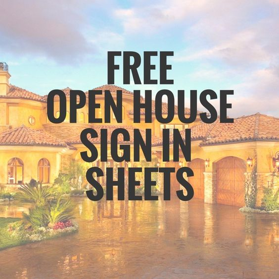5 Simple Open House Sign In Sheet Templates For Realtors – Edit ...