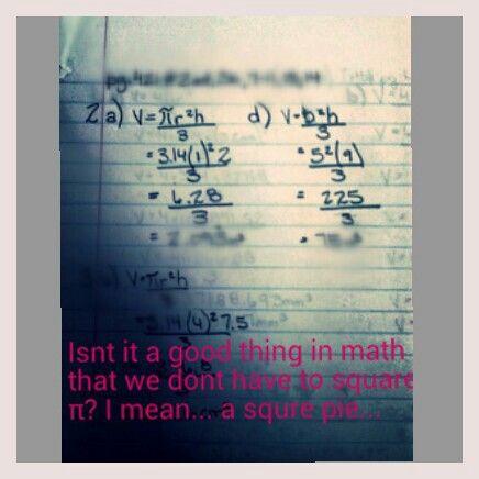 Good old math homework.