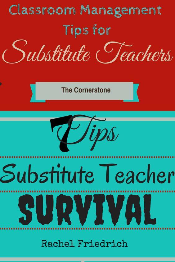 Guest post written by Rachel Friedrich ~she shares lots of substitute teacher tips and tricks | Classroom Management Tips for Substitute Teachers