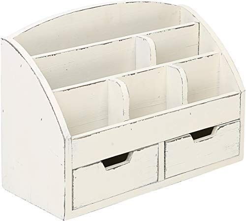 Amazing Offer On Mygift Vintage White Wood Desk Organizer 6 Compartment 2 Drawer Office Supplies Cabinet Online Findtopbrandsgreat In 2020 White Wood Desk Wood Desk Desk Organization